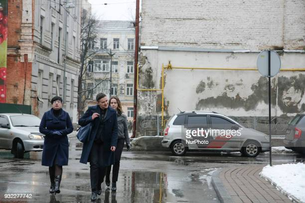 MP Nadia Savchenko arrives for the questioning at Security Service of Ukraine in Kyiv Ukraine March 15 2018 Security Service of Ukraine calls to...