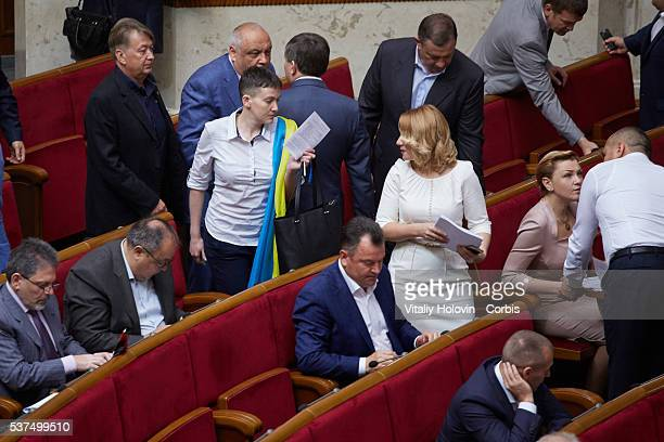 Nadia Savchenko Ukrainian pilot member of the Ukrainian parliament and member of the Ukrainian delegation to the Parliamentary Assembly of the...
