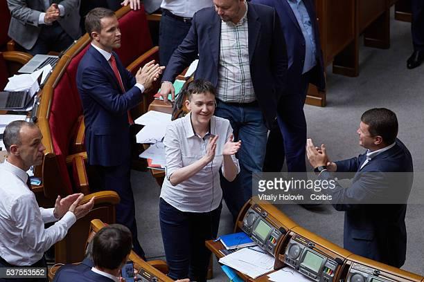 Nadia Savchenko Ukrainian pilot member of the Ukrainian parliament and member of the Ukrainian delegation to the Parliamentary Assembly of the...