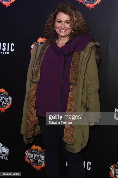 Nadia Sawahla attends the press night for Shocktober Fest at Tulleys Farm on October 5 2018 in Crawley West Sussex
