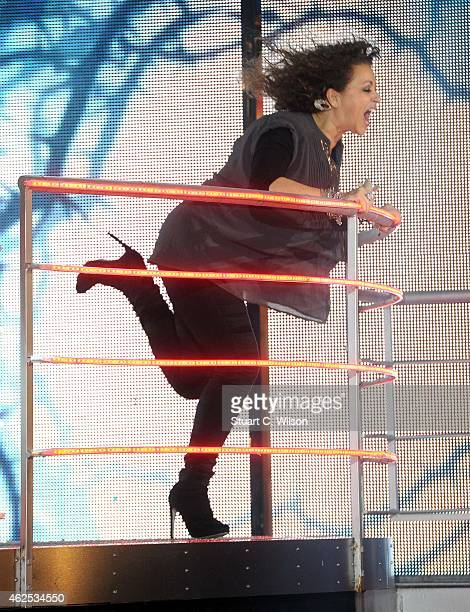 Nadia Sawalha becomes the 4th celebrity evicted from the Big Brother house at Elstree Studios on January 30 2015 in Borehamwood England