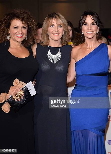 Nadia Sawalha Kaye Adams and Andrea McLean attend the Pride of Britain awards at The Grosvenor House Hotel on October 6 2014 in London England