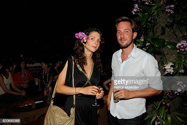 Nadia Sazigianim and Tom Allen attend Jed Root Hawaiian Barbeque in Early Celebration of 20 years at The Bowery Hotel on July 17 2008 in New York City