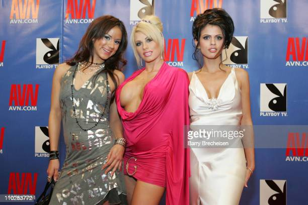Nadia Styles, Brooke Haven & Shy Love during 23rd Annual AVN Awards Show -Red Carpet at Venetian Hotel in Las Vegas, Nevada, United States.