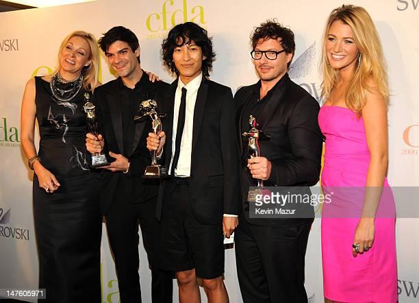 Nadia Swarovski, Justin Giunta, Alexander Wang, Tim Hamilton and Blake Lively attends the 2009 CFDA Fashion Awards at Alice Tully Hall, Lincoln...