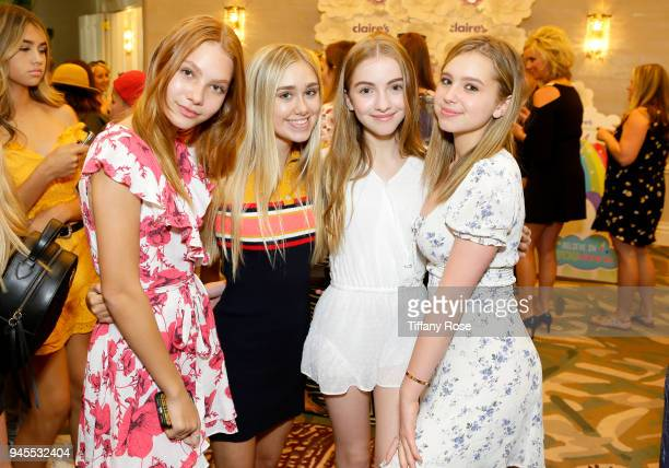 Nadia Turner Emily Skinner Lauren Orlando and Lilia Buckingham attend Claire's Dream Big Awards at the Beverly Hills Hotel on April 12 2018 in...