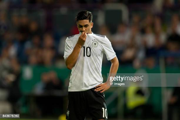 Nadiem Amiri of Germany looks on during the U21 UEFA 2018 EM Qualifying match between Germany and Kosovo at the Stadion Bremer Bruecken in Osnabrueck...