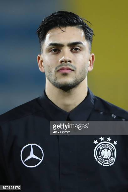 Nadiem Amiri of Germany looks on prior to the UEFA Under21 Euro 2019 Qualifier match between Azerbaijan U21 and Germany U21 at Dalga Arena on...