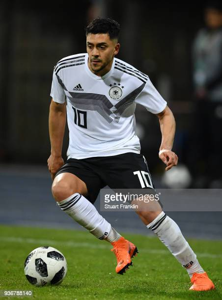 Nadiem Amiri of Germany U21 in action during the 2019 UEFA Under 21 qualification match between U21 Germany and U19 Israel at Eintracht Stadion on...