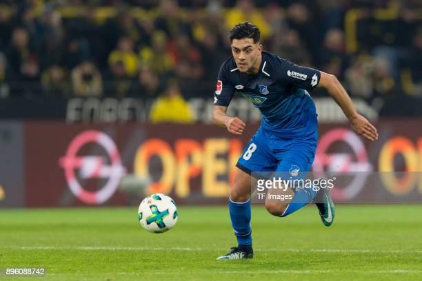Nadiem Amiri of Hoffenheim controls the ball during the Bundesliga match between Borussia Dortmund and TSG 1899 Hoffenheim at Signal Iduna Park on...