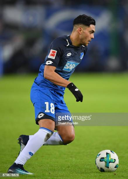Nadiem Amiri of Hoffenheim in action during the Bundesliga match between Hamburger SV and TSG 1899 Hoffenheim at Volksparkstadion on November 26 2017...