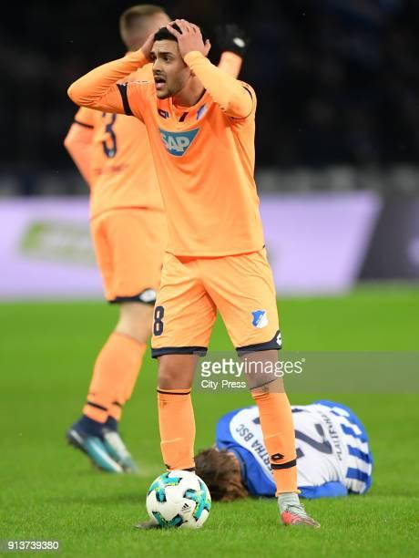 Nadiem Amiri of the TSG 1899 Hoffenheim during the game between Hertha BSC and TSG Hoffenheim on february 3 2018 in Berlin Germany
