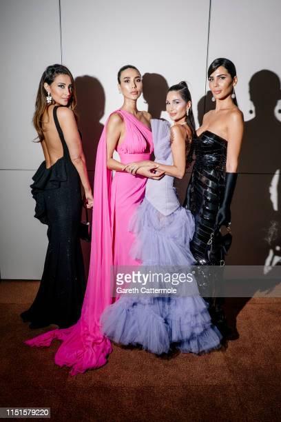 Nadine Abdelaziz, Alice Abdelaziz and Farah Abdelaziz attend theInaugural 'World Bloggers Awards' during the 72nd annual Cannes Film Festival on May...