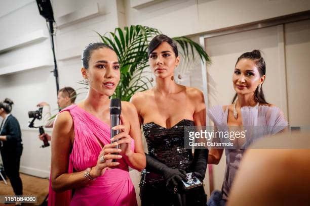 Nadine Abdelaziz Alice Abdelaziz and Farah Abdelaziz attend the Inaugural 'World Bloggers Awards' during the 72nd annual Cannes Film Festival on May...