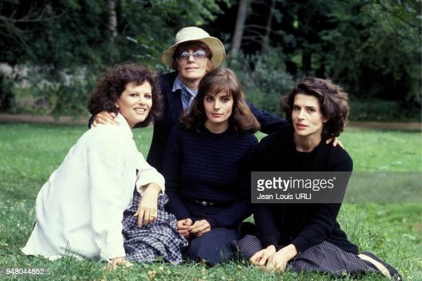 Nadine and Marie Trintignant with Claudia Cardinale and Fanny Ardant.