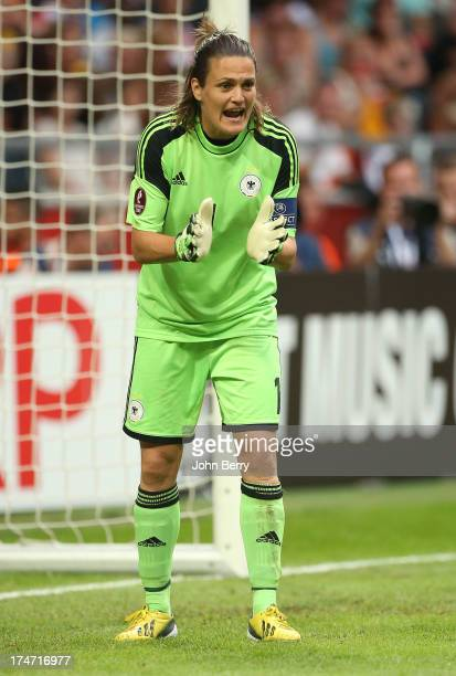 Nadine Angerer of Germany in action during the UEFA Women's Euro 2013 Final between Germany and Norway at the Friends Arena Stadium on July 28 2013...