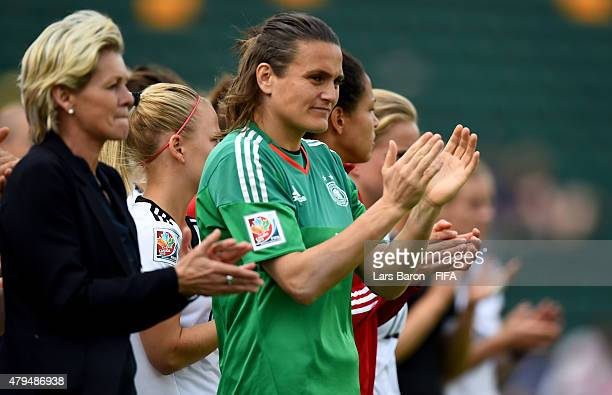 Nadine Angerer of Germany looks dejected after loosing the FIFA Women's World Cup 2015 Third Place Playoff match between Germany and England at...