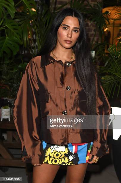 Nadine Artois attends the Wolf Badger 10th Year Anniversary party during London Fashion Week February 2020 at Coal Drops Yard on February 13 2020 in...