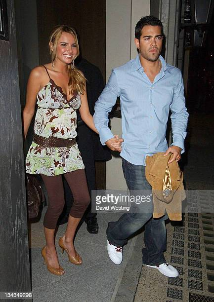 Nadine Coyle and Jesse Metcalfe during Nadine Coyle and Jesse Metcalfe Sighting at Nobu 29 August 2006 in London Great Britain
