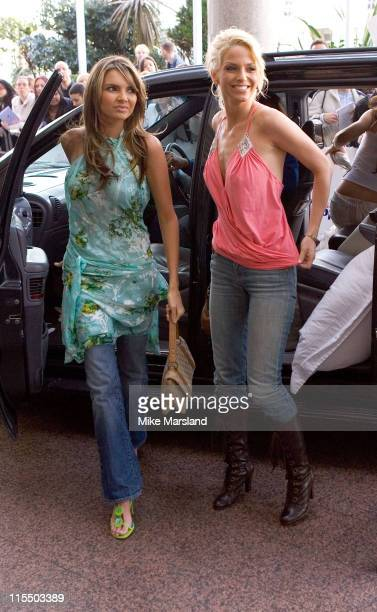 Nadine Coyle and Sarah Harding during The 2005 95.8 Capital FM Awards - Outside Arrivals at Royal Lancaster Hotel in London, Great Britain.