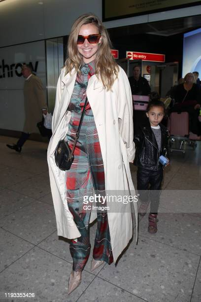 Nadine Coyle arrives at Heathrow Airport after returning from 'I'm A Celebrity... Get Me Out Of Here!' on December 11, 2019 in London, England.