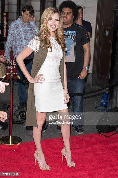 Nadine Coyle arrives for The Bodyguard opening night at Dominion Theatre on July 21, 2016 in London, England.