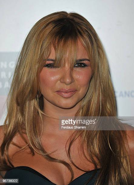 Nadine Coyle attend Emeralds Ivy Ball for Cancer Research UK at Battersea Park on November 21 2008 in London England
