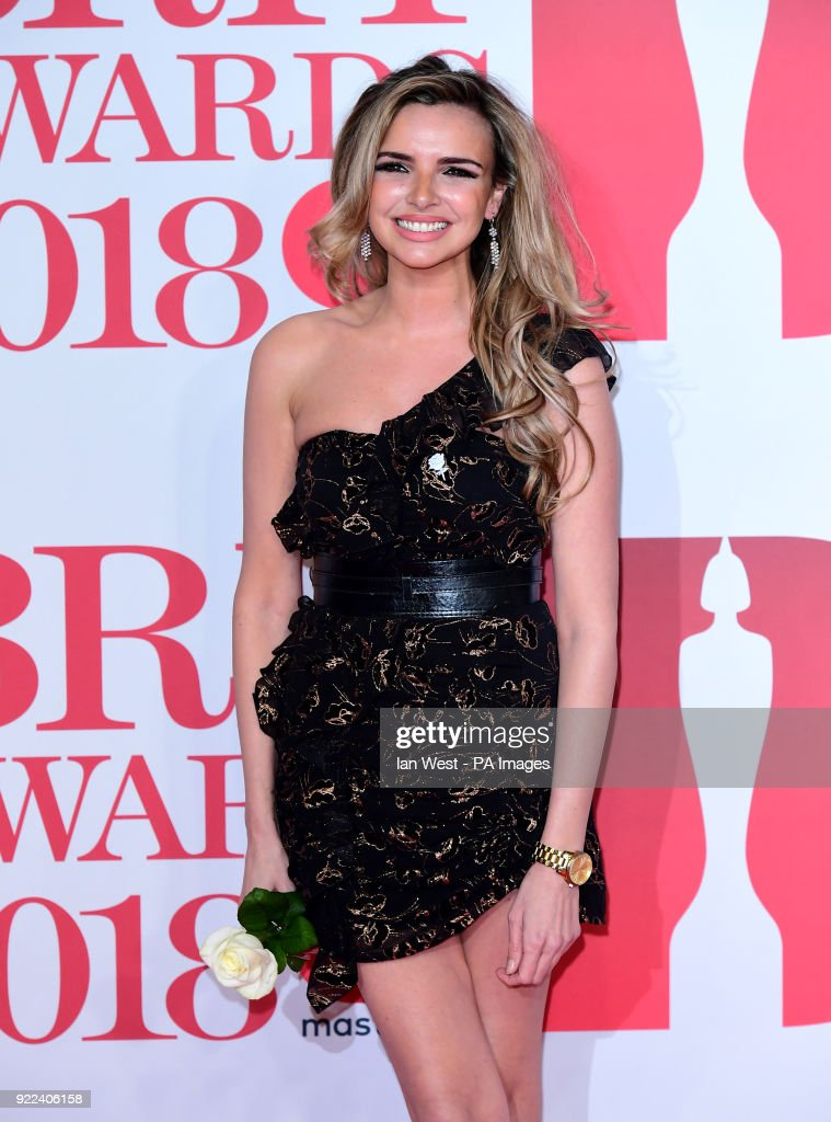 Nadine Coyle attending the Brit Awards at the O2 Arena, London