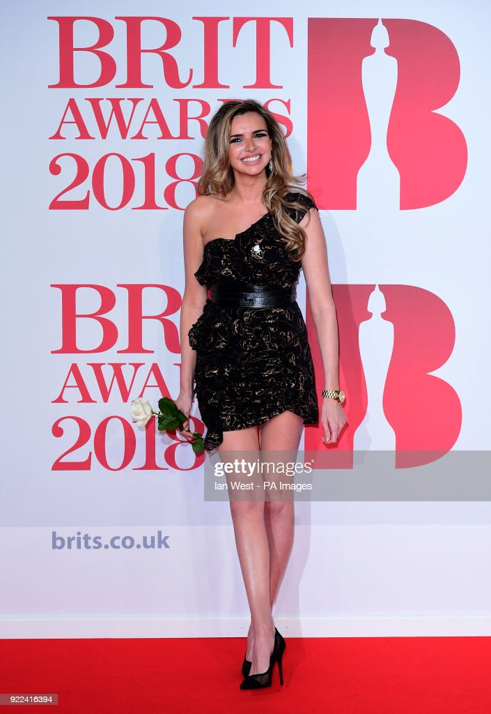 Nadine Coyle attending the Brit Awards at the O2 Arena, London.