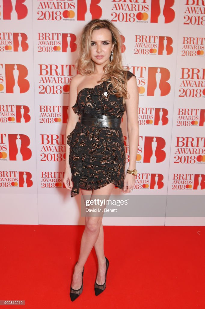 Nadine Coyle attends The BRIT Awards 2018 held at The O2 Arena on February 21, 2018 in London, England.