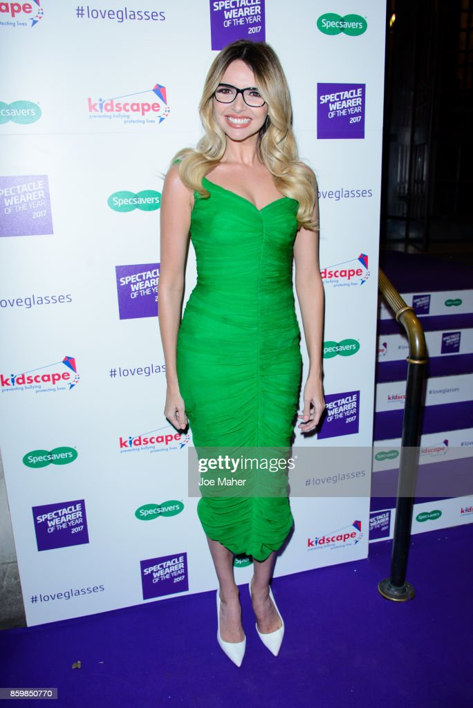Nadine Coyle during a photocall for Specsaver's Spectacle Wearer Of The Year at 8 Northumberland Avenue on October 10, 2017 in London, England.