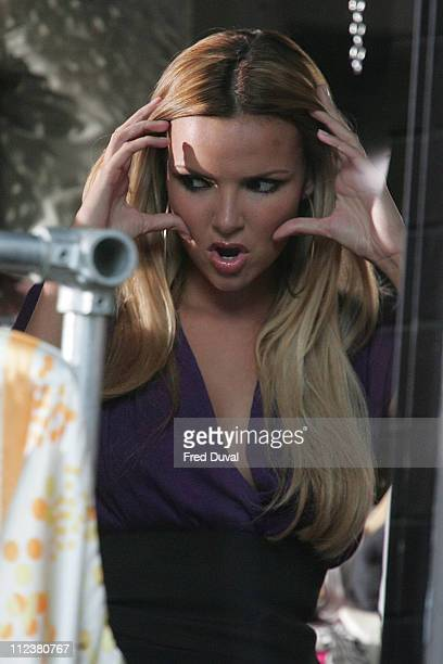 Nadine Coyle during Girls Aloud on Location for a Sunsilk Commercial April 15 2007 at East London in London Great Britain