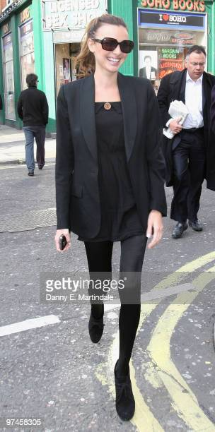 Nadine Coyle is seen leaving the The Groucho Club on March 5 2010 in London England
