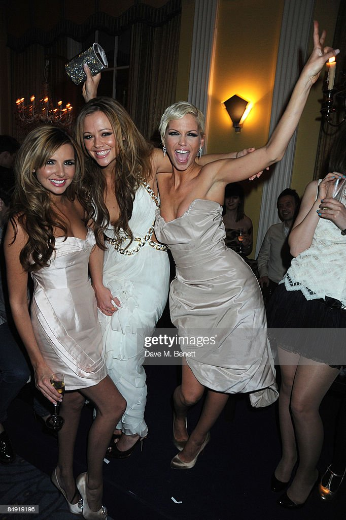 Nadine Coyle, Kimberly Walsh and Sarah Harding attend the Universal Party following the Brit Awards 2009 at the Claridge's Hotel on February 18, 2009 in London, England.