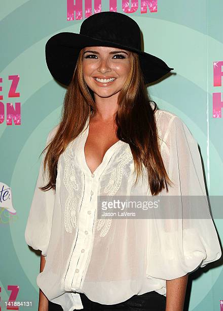 Nadine Coyle of Girls Aloud attends Perez Hilton's Mad Hatter tea party birthday celebration on March 24 2012 in Los Angeles California