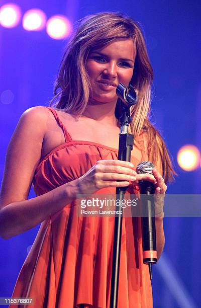 Nadine Coyle of Girls Aloud during Girl Guiding UK's 6th Annual BIG GIG Stage at Evening News Arena in Manchester Great Britain