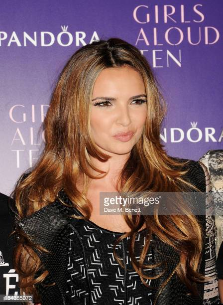 Nadine Coyle of Girls Aloud pose at a press conference to announce 'Girls Aloud Ten The Hits Tour 2013' at The Corinthia Hotel on October 19 2012 in...