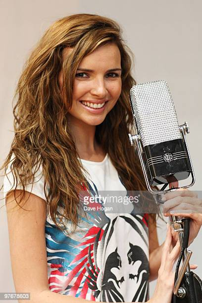 Nadine Coyle of Girls Aloud poses for portraits to promote her debut solo album due for release in 2010 held at Air Studios on March 12 2010 in...