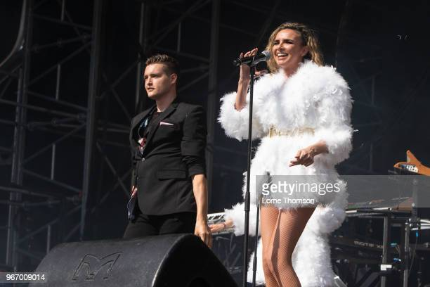 Nadine Coyle performs at Mighty Hoopla at Brockwell Park on June 3 2018 in London England