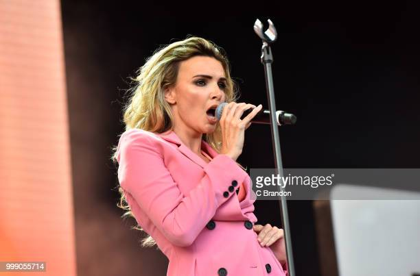 Nadine Coyle performs on stage at Kew The Music at Kew Gardens on July 14, 2018 in London, England.