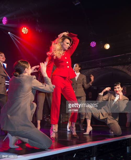 Nadine Coyle performs on stage with her dancers at GAY Heaven on September 16 2017 in London England