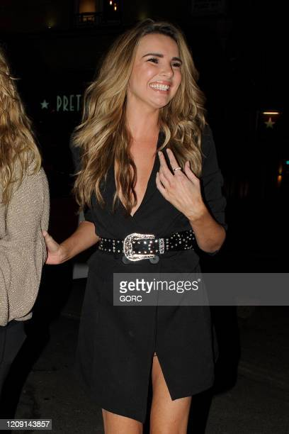 Nadine Coyle seen leaving InTheStyle fashion launch at Tape nightclub on February 27, 2020 in London, England.