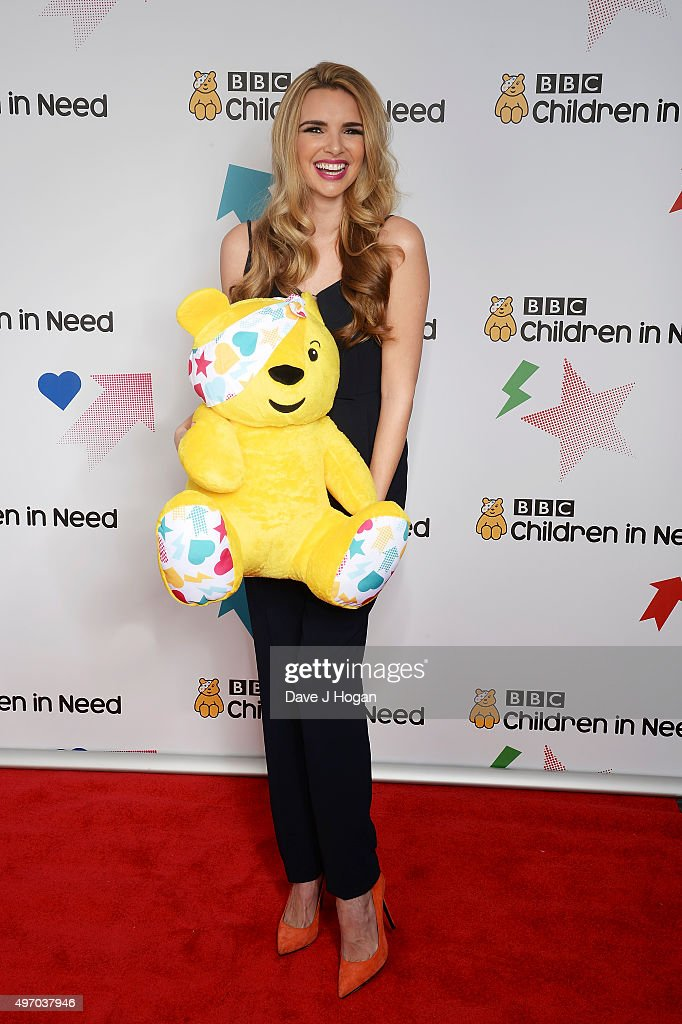 Nadine Coyle shows her support for BBC Children in Need at Elstree Studios on November 13, 2015 in Borehamwood, England.