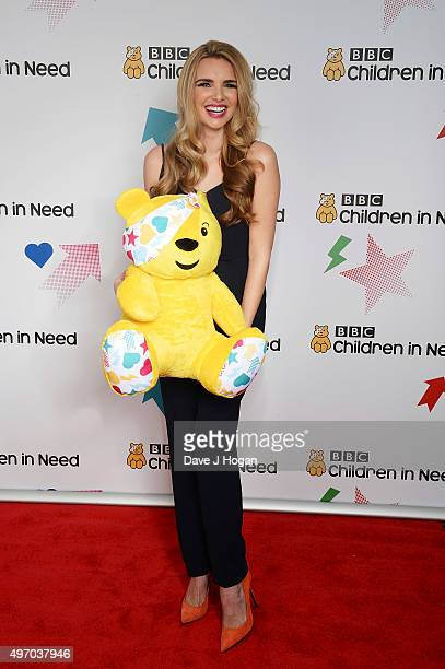 Nadine Coyle shows her support for BBC Children in Need at Elstree Studios on November 13 2015 in Borehamwood England