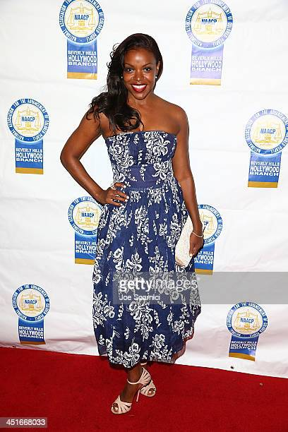Nadine Ellis arrives at the 23rd annual NAACP Theatre Awards at Saban Theatre on November 11 2013 in Beverly Hills California