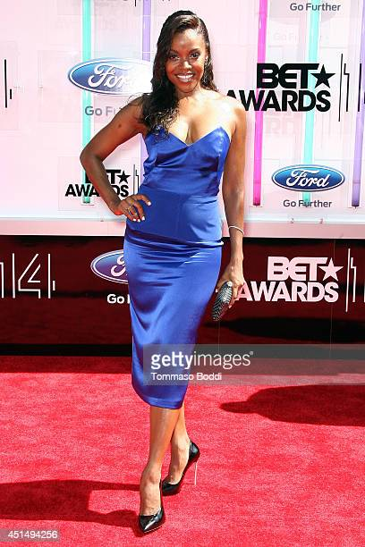 Nadine Ellis attends the BET AWARDS 14 held at Nokia Theatre LA Live on June 29 2014 in Los Angeles California