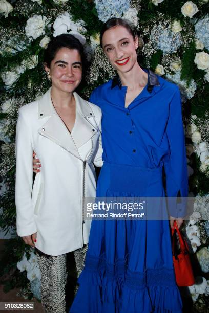 Nadine Ghosn and Dorothee Gilbert attend the 16th Sidaction as part of Paris Fashion Week on January 25 2018 in Paris France