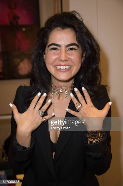 Nadine Ghosn presents the Nadine Ghosn jewellery collection at Collette conceptstore in Paris as part of the Paris Fashion Week Womenswear...