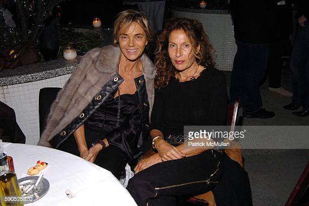 Nadine Johnson and Jacqueline Schnabel attend Afterparty and dinner for the Opening of Pam American Icon Photograghs by Sante D'Orazio at Cabanas in...