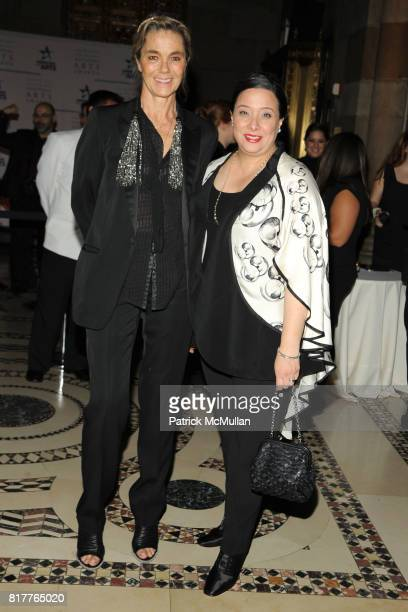 Nadine Johnson and Nora Halpern attend AMERICANS FOR THE ARTS 2010 National Arts Awards at Cipriani 42nd St on October 18 2010 in New York City